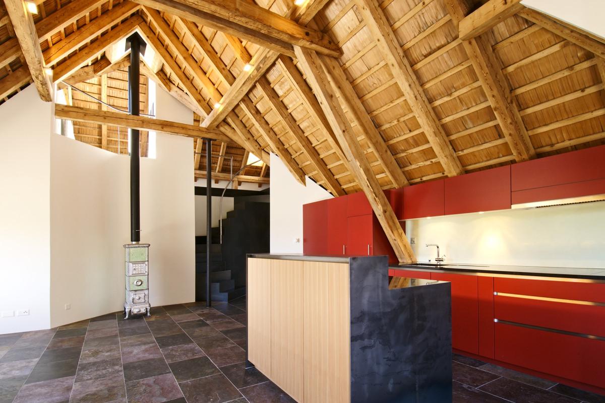 Dachgeschoss champf r wohnbau fh architektur bever for Fachhochschule architektur