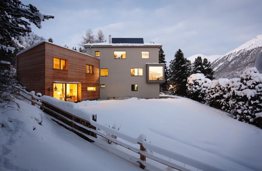 Berbauung parzelle 1836 silvaplana wohnbau fh for Fachhochschule architektur