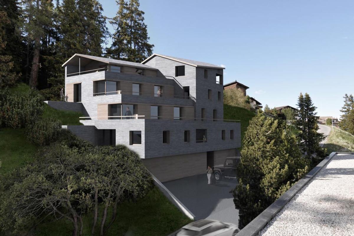Wettbewerbe wohnbau fh architektur bever engadin for Fachhochschule architektur
