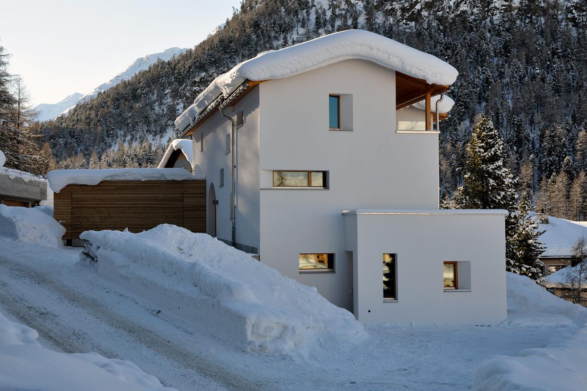 Chesa mia pontresina wohnbau fh architektur bever for Fachhochschule architektur