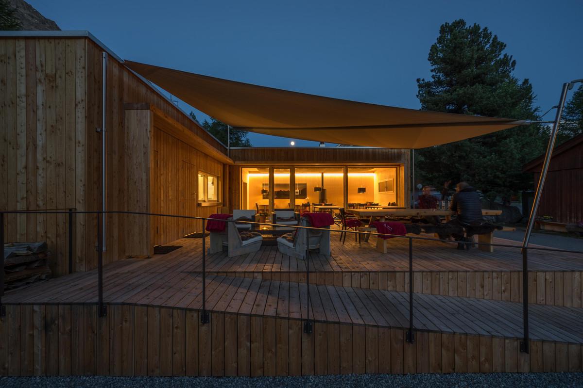 Camping morteratsch pontresina gewerbebau fh for Fachhochschule architektur